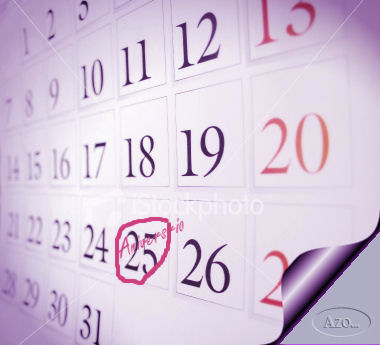Una hoja en el calendario